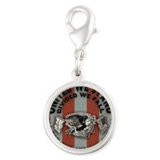 Am-eagle-BUT Silver Round Charm