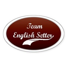 Team Setter Oval Bumper Stickers