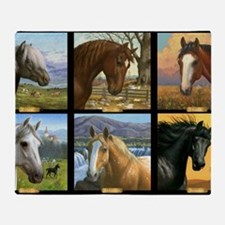 HORSE DIARIES POSTER Throw Blanket