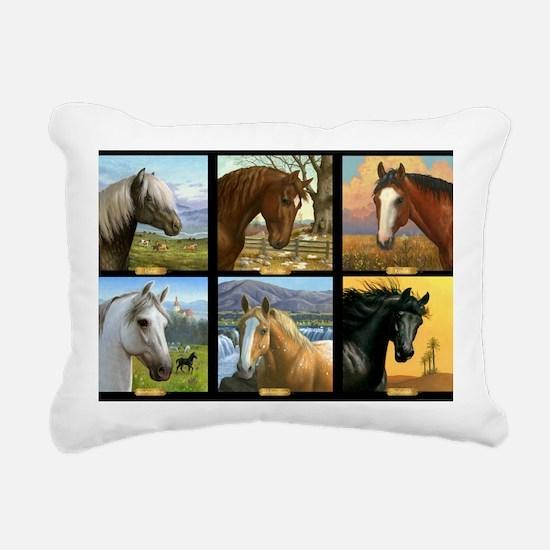 HORSE DIARIES POSTER Rectangular Canvas Pillow