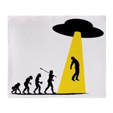 Alien Abduction Throw Blanket