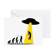 Alien Abduction Greeting Card