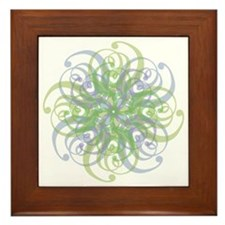 skies mandala 00023 Framed Tile