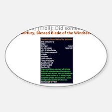 ThunderfuryTrade.gif Sticker (Oval)