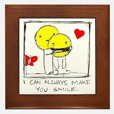make me smile Framed Tile