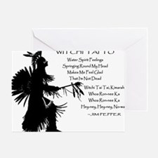 WITCHI TAI TO black Greeting Card