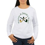 St. Patrick's Day Pipes Women's Long Sleeve T-Shir