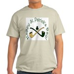 St. Patrick's Day Pipes Light T-Shirt