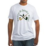 St. Patrick's Day Pipes Fitted T-Shirt