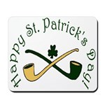 St. Patrick's Day Pipes Mousepad