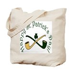 St. Patrick's Day Pipes Tote Bag