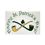 St. Patrick's Day Pipes Rectangle Magnet (10 pack)