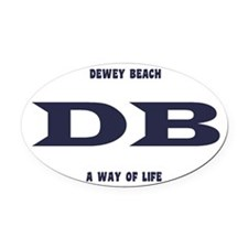 DeweyEuroOvalBlue Oval Car Magnet