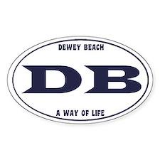 DeweyEuroOvalBlue Decal