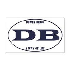 DeweyEuroOvalBlue Rectangle Car Magnet