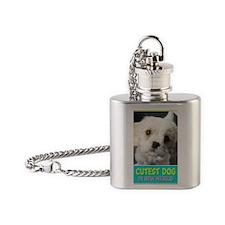 2-cutestdog Flask Necklace
