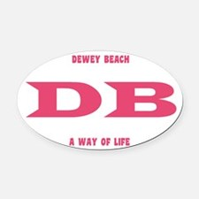 DeweyEuroOvalPink Oval Car Magnet