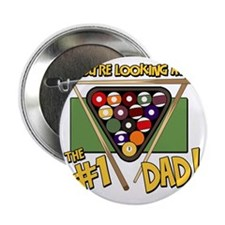 """pool-number-one-dad 2.25"""" Button"""