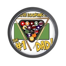 pool-number-one-dad Wall Clock