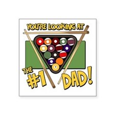 """pool-number-one-dad Square Sticker 3"""" x 3"""""""