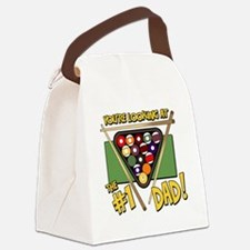 pool-number-one-dad Canvas Lunch Bag