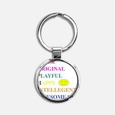 SOPHIA Round Keychain