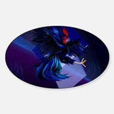 Black Fighting Rooster-Yardsign Decal