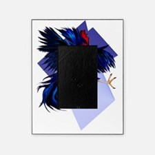 Black Fighting Rooster Trans Picture Frame