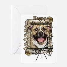 French_Quarters_Pitbull_Tigger Greeting Card