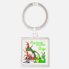 2-dragon Square Keychain
