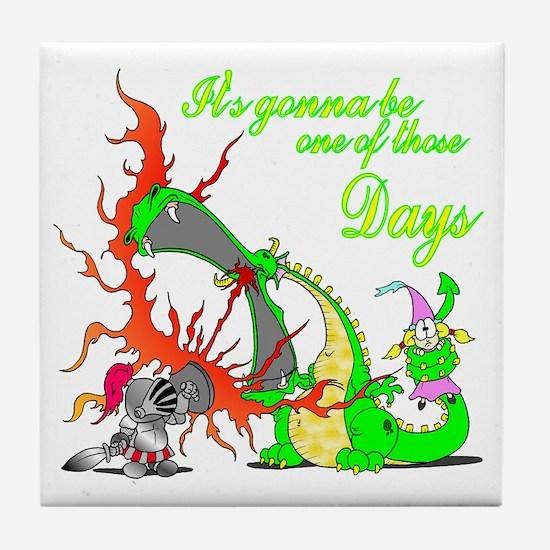 2-dragon Tile Coaster