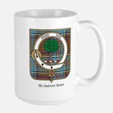Anderson Clan Badge and Tartan Mugs