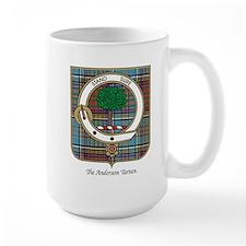Anderson Clan Badge and Tartan Mugs