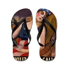 WW1 James Montgomery Flagg WAKE UP Flip Flops