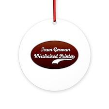 Team Pointer Ornament (Round)