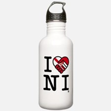 I_love_NI_transparent Water Bottle