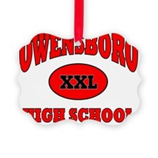 Owensboro High School XXL red wit Ornament