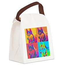 Op Art Husky Canvas Lunch Bag