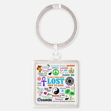 Loves Lost Square Keychain