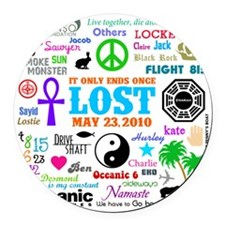 Loves Lost Round Car Magnet