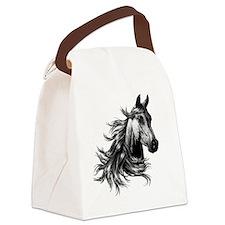 2-WILD HORSE Canvas Lunch Bag