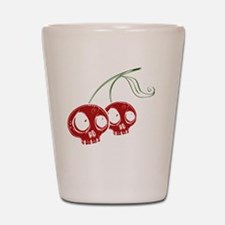 cherryskulls2 Shot Glass