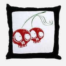 cherryskulls2 Throw Pillow
