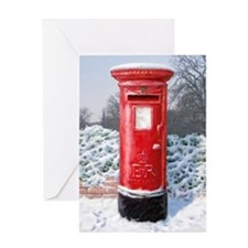 Cute Red post box Greeting Card