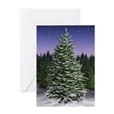 Unique Cold winter night Greeting Card