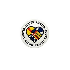 ulster scots hands Mini Button