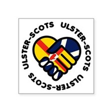 """ulster scots hands Square Sticker 3"""" x 3"""""""