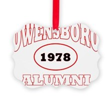 Owensboro 1978 Alumni WHITE with  Ornament