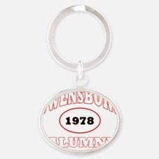 Owensboro 1978 Alumni WHITE with red Oval Keychain