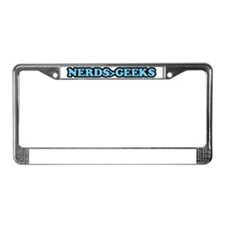 Nerds and Geeks License Plate Frame
